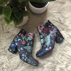 Vince Camuto Floral Heeled Booties